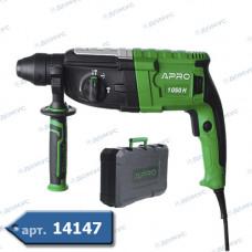 Перфоратор APRO 1050W, 3,5Дж, SDS+, кейс, 1050Н (AR_896228) ( Імпорт )