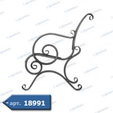 Боковина лавки 890х800х20 комплект ліва+права (67.001) ( Україна )
