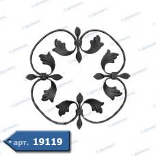 Розетка  370х370х12х6 вальцьована (13.001) ( Україна )