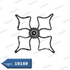 Розетка  350х350х12х6 вальцьована (21.164) ( Україна )