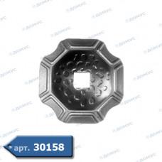 П'ятка декоративна  74х74х2 под 13 квадрат (44.018.01) ( Імпорт )