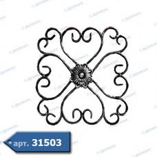 Розетка  345х345х12х6 вальцьована (13.011) ( Україна )